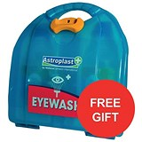 Image of Wallace Cameron Eyewash Dispenser Mezzo Unit - HSE Recommended - Offer Includes FREE Poster