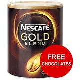 Image of Nescafe Gold Blend Instant Coffee / 750g Tin x 2 / Offer Includes FREE Kit-Kats