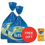 Image of Tetley One Cup Tea Bags / Pack of 440 x 2 / Offer Includes FREE Tea Tetley Towel & Peach & Orange Tea