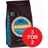 Image of Cafe Direct Fairtrade Kilimanjaro Ground Coffee / 227g / 3 for the Price of 2 with a FREE Cafetiere
