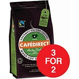 Image of Cafe Direct Fairtrade Machu Pichu Coffee / 227g / 3 for the Price of 2 with a FREE Cafetiere