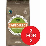 Image of Cafe Direct Fairtrade Machu Pichu Peruvian Coffee Beans / 227g / 3 for the price of 2