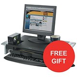 Image of Fellowes Office Suites Monitor Riser / Large / 22kg Capacity / Offer Includes FREE Evian Water 24 pack
