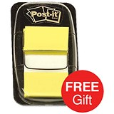 Image of Post-it Index Flags / Yellow / 24 Pads of 50 Notes / Redeem your FREE Tote Gift Bag
