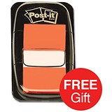 Image of Post-it Index Flags / Orange / 24 Pads of 50 Notes / Redeem your FREE Tote Gift Bag