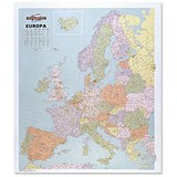Image of Map Marketing Europa Political Map Unframed 63 Miles to 1 inch Scale 109x93cm Ref EUR