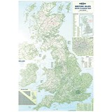 Image of Map Marketing British Isles Motoring Map Unframed 12.5 Miles to 1 inch Scale W830xH1200mm Ref BIM