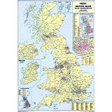 Image of Map Marketing Sales and Marketing Map Unframed 12.5 Miles/inch Scale W830xH1200mm Ref UKM