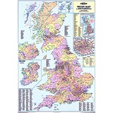 Image of Map Marketing Counties Districts Unitary Authorities Map Unframed 12.5 Miles/inch W830xH1200mm Ref BIC