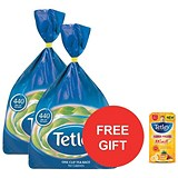 Image of Tetley One Cup Tea Bags / Pack of 440 x 2 / Offer Includes FREE Tea Tetley Towel & Exotic Fruit Tea