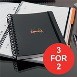 Image of Rhodia Polypropylene Notebook / Wirebound / Lined & Margin / A5 / Pack of 3 / 3 for the Price of 2