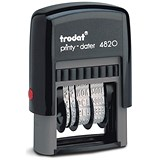 Image of Trodat Printy 4820 Line Dater Stamp / Refillable / Black