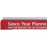Image of Sasco Aluminium Chart Track / Two Rails Upper and Lower for Single / 915mm Wide