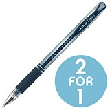 Image of Uni-ball UM151S SigNo Gel Rollerball / Comfort Grip / Black / Pack of 12 / Buy One Get One FREE