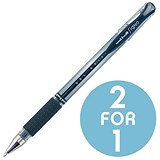 Image of Uni-ball UM151S SigNo Gel Rollerball / Comfort Grip / Blue / Pack of 12 / Buy One Get One FREE