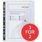 Image of Snopake PolyFiles Ring Binder Wallets / Clear / A4 / Pack of 5 / 3 for the price of 2