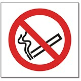 No Smoking Sign 150x150mm White Self-adhesive Vinyl