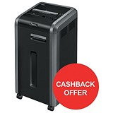 Image of Fellowes 225Mi Shared Workspace Shredder / Micro Shred / P-5 / Redeem Your £60 Cashback