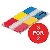 Image of Post-it Strong Index / Red, Yellow & Blue / Pack of 66 / 3 for the Price of 2