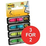 Image of Post-it Index Repositionable Arrows / Assorted Bright Colours / Pack of 96 / 3 for the Price of 2