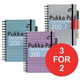 Image of Pukka Pad Metallic Executive Project Book / A5 / Pack of 3 / 3 for the Price of 2
