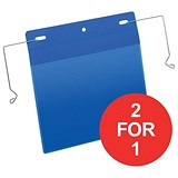 Image of Durable Pockets / Wire Hanger / A5 / Landscape / Blue / Pack of 50 / Buy One Get One FREE