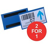 Image of Durable Magnetic Document Sleeves / 150x67mm / Blue / Pack of 50 / Buy One Get One FREE