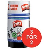 Image of Pritt Stick Glue / Jumbo / 95g / Pack of 6 / 3 for the price of 2