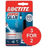 Image of Loctite Super Glue / Precision Bottle with Extra-long Nozzle / 5g / 3 for the price of 2