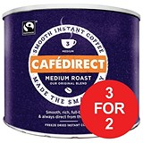 Image of Cafe Direct Classics Instant Coffee Fairtrade Medium Roast Tin / 500g / 3 for the Price of 2
