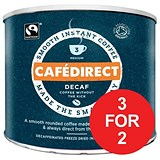 Image of Cafe Direct Classics Decaffeinated Fairtrade Organic Roast Instant Coffee / 500g / 3 for the Price of 2