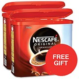 Image of Nescafe Original Instant Coffee / 2 x 750g Tins / Offer Includes FREE Rowntree minis sharing pack