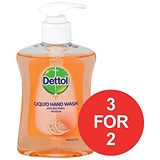 Image of Dettol Antibacterial Hand Soap / Moistening / Grapefruit / 250ml / 3 for the Price of 2