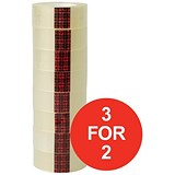 Image of Scotch Easy Tear Transparent Tape / 19mmx33m / Pack of 8 / 3 for the price of 2