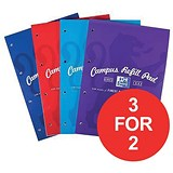 Image of Campus Laminated Card Cover Headbound Refill Pad / A4 / 120 Pages / Pack of 5 / 3 for the Price of 2