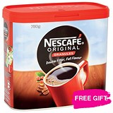 Image of Nescafe Original Instant Coffee Granules / 2 x 750g Tins / Offer Includes FREE Chocolates