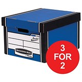 Image of Fellowes Premium 725 Classic Bankers Box / Blue & White / Pack of 10 / 3 for the Price of 2 / Redeem your FREE Christmas Hamper