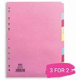 Elba Subject Dividers / 10-Part / A4 / Assorted / Buy 2 get 1 free