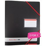 Image of Black n' Red Ring Binder / A4 / 4 O-rings / 16mm Capacity / Black / Buy One Get One FREE