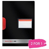 Image of Black n' Red A4 Swing Clip Files / Black / Pack of 5 / Buy One Get One FREE