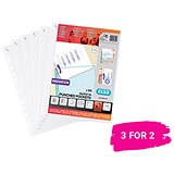 Elba A4 Heavy Duty Punched Pockets / Pack of 100 / Buy 2 packs get 1 free