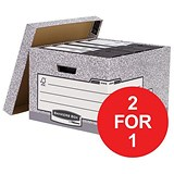 Image of Fellowes Bankers Box System Storage Boxes / Large / Pack of 10 / Buy One Get One FREE