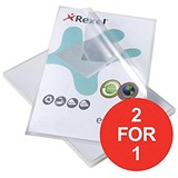 Image of Rexel Eco-Filing Cut Flush Folders / A4 / Anti-glare / Pack of 25 / Buy One Get One FREE