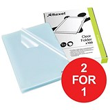 Image of Rexel Cut Flush Folders / A4 / Copy-secure / Pack of 100 / Buy One Get One FREE