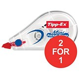 Image of Tipp-Ex Mini Pocket Mouse Correction Tape Roller / 5mmx6m / Pack of 10 / Buy One Get One FREE