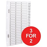 Image of Concord Classic Index Dividers / 1-75 / Mylar Tabs / A4 / White / 3 packs for the price of 2