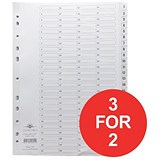 Image of Concord Classic Index Dividers / 1-200 / Mylar Tabs / A4 / White / 3 packs for the price of 2