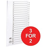 Image of Concord Classic Index Dividers / A-Z / Mylar Tabs / A4 / White / 3 packs for the price of 2