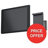 Image of Durable Wall Tablet Holder Aluminium - FREE Cleaning Kit