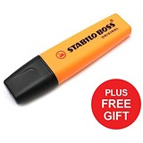 Image of Stabilo Boss Highlighters / Orange / Pack of 10 / FREE Highlighters